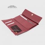 Кошелек женский Кожаный для карточек и денег TERGAN 5793   BORDO NAPPA Бордовый