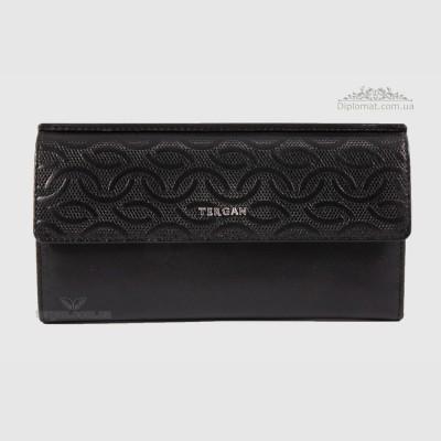 Кошелек женский TERGAN 5793 Кожаный для карточек и денегSIYAH NAPPA