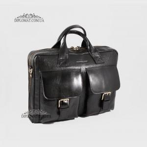 Мягкий портфель Сумка TONY BELLUCCI T-5026 Кожаная для ноутбука и документов А4893 BLACK