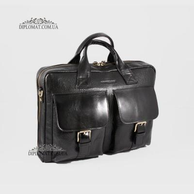 Мягкий портфель Сумка TONY BELLUCCI T-5026 Кожаная для ноутбука и документов А4893 Черный