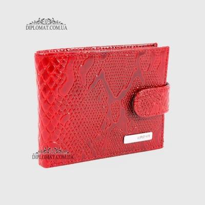 Визитница для дисконтных карт KARYA 398 кожаная 019 Красный Лак