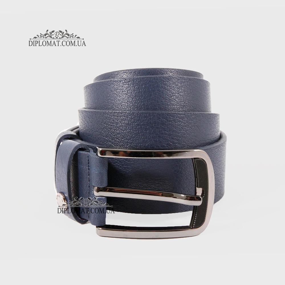 Ремень RINO 6711145226968 Джинсовый кожаный Темно синий STD