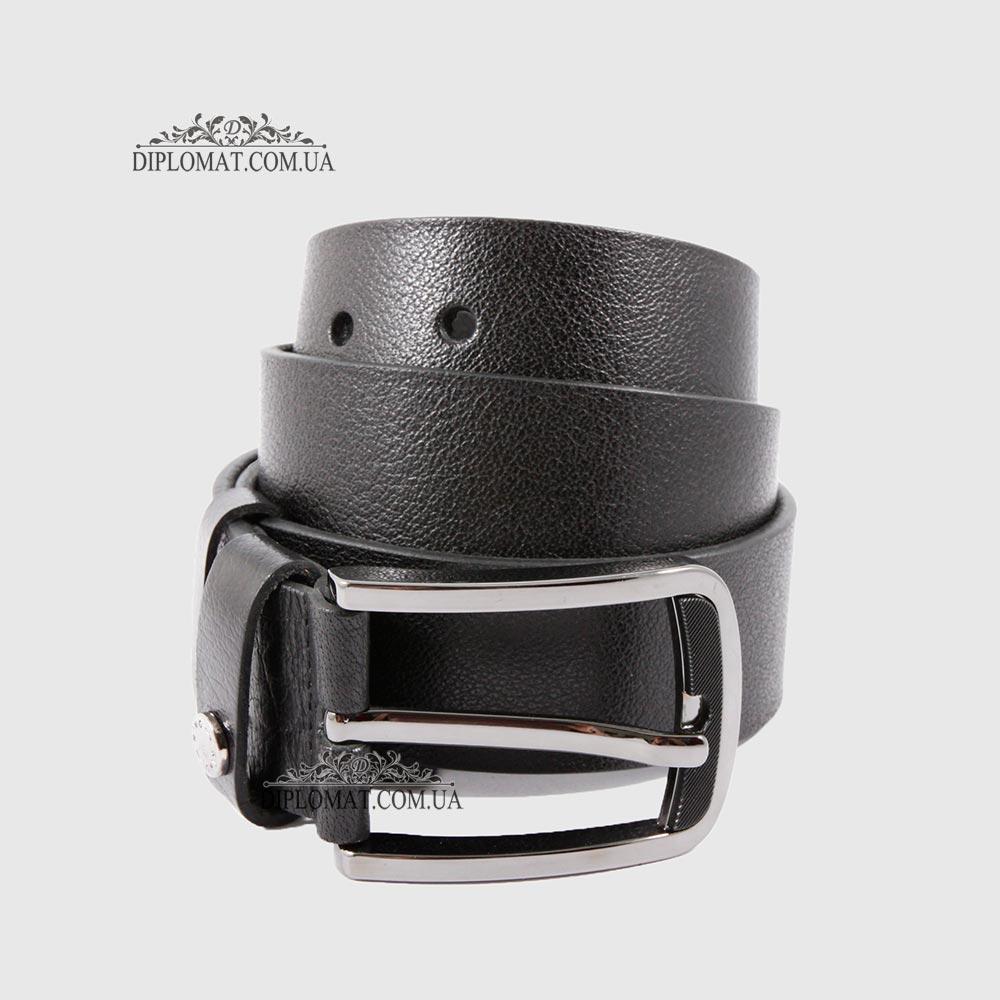 Ремень RINO 6711145197060 Джинсовый кожаный Черный STD