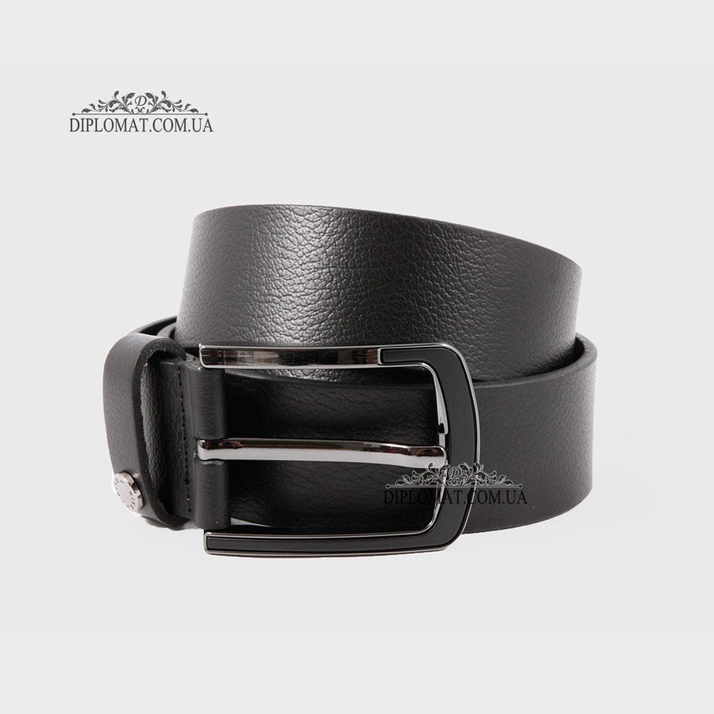 Ремень RINO 6711145182097 Джинсовый кожаный Черный STD