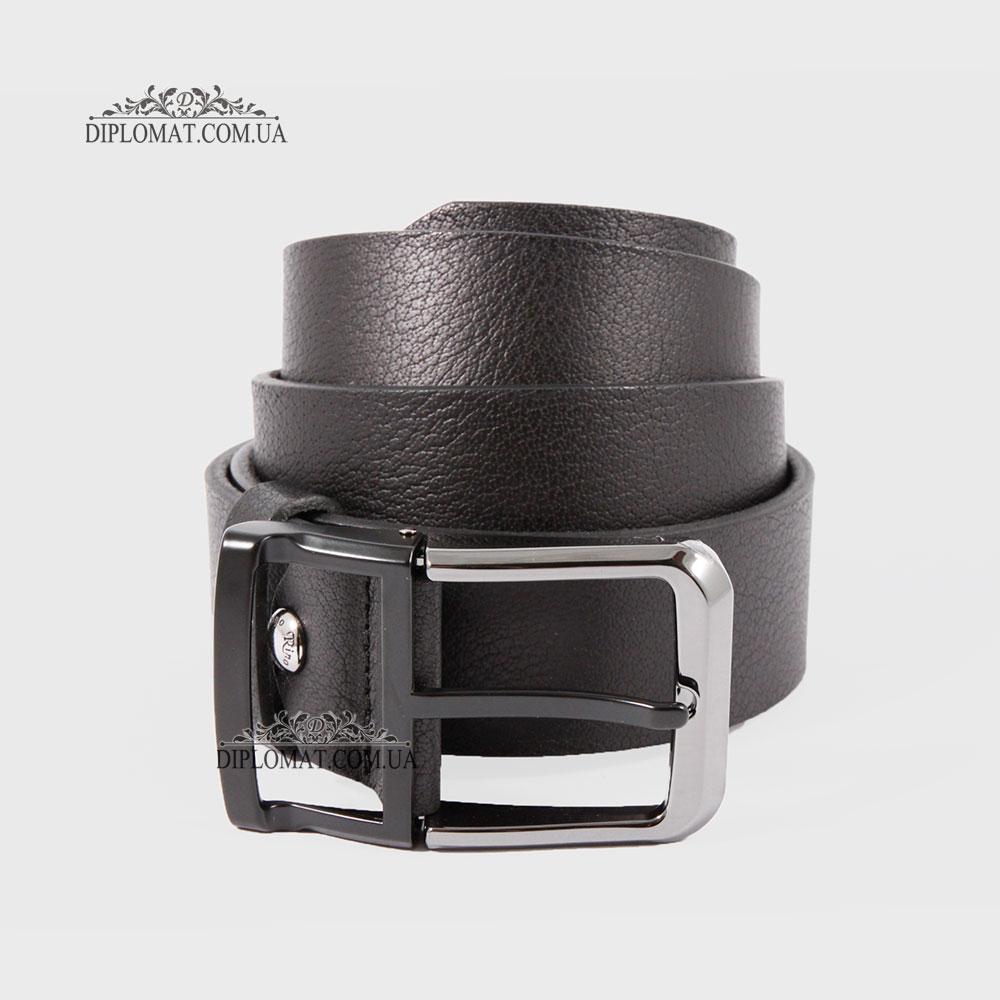 Ремень RINO 6711145176867 Джинсовый кожаный Черный STD