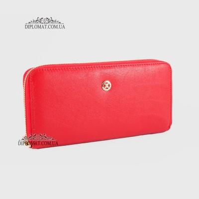 Кошелек на молнии TERGAN 5777 кожаныйKIRMIZI ARSEL Красный