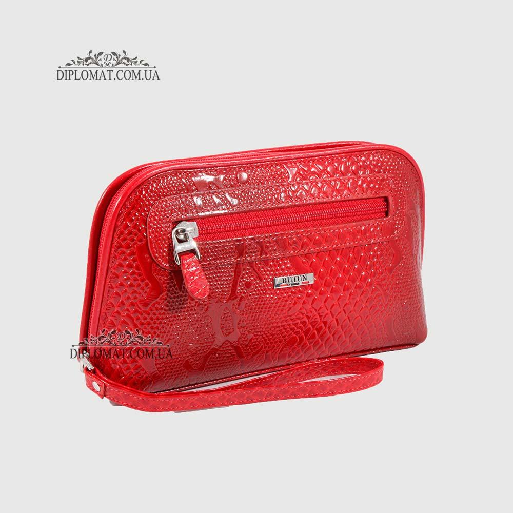 b1c10a1a3a21 Под Заказ Косметичка женская Кожаная с карманом на молнии BUTUN B.665 008006
