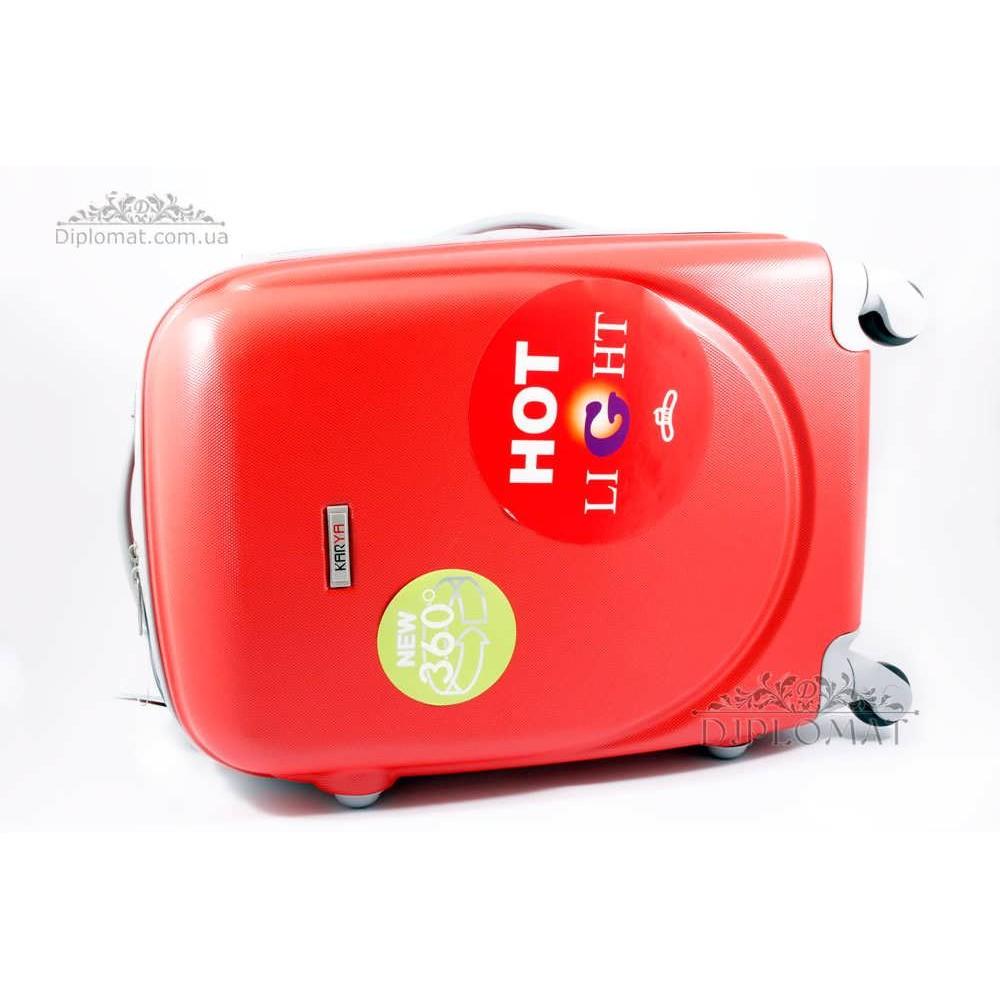 Чемодан дорожный KARYA Suitcase BIG PLASTIC RED