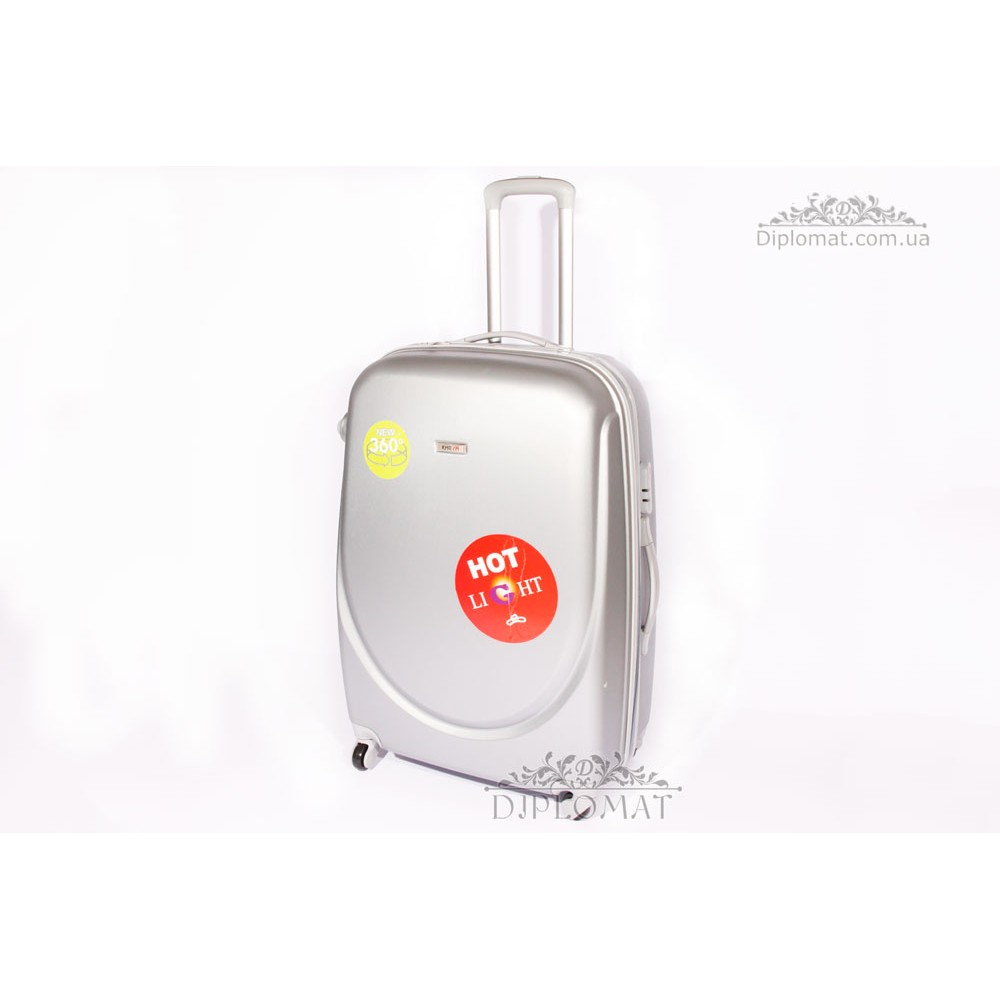 Чемодан дорожный KARYA Suitcase BIG PLASTIC GREY