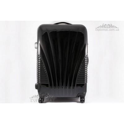 Чемодан дорожный KARYA Suitcase MIDLE Polycarbonate lack BLACK
