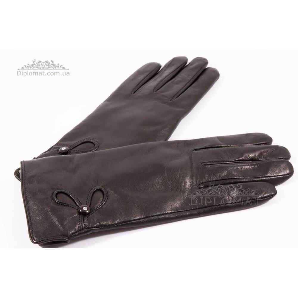 Перчатки женские HARMON 2096 ПП ЧерныйSMOOTH SKIN size 7