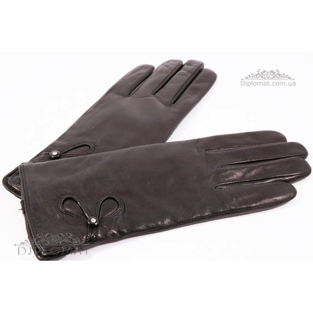 Перчатки женские HARMON 2096 ПП ЧерныйSMOOTH SKIN size 7,5