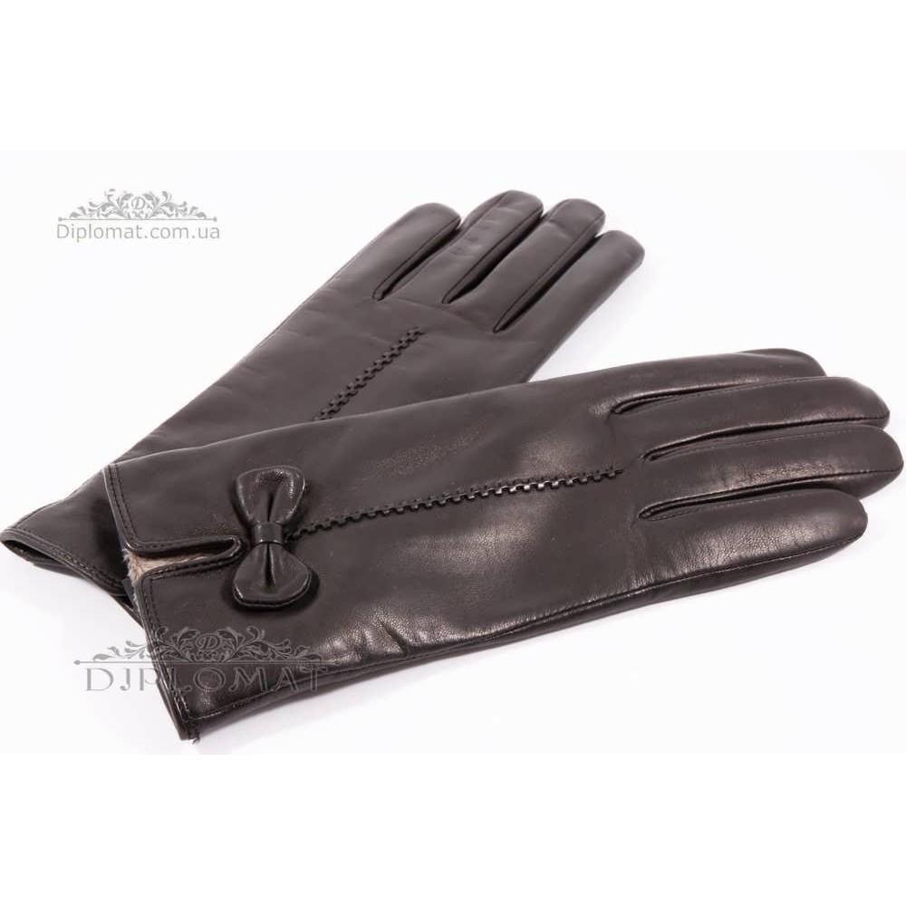 Перчатки женские HARMON 2097C ПП ЧерныйSMOOTH SKIN size 7
