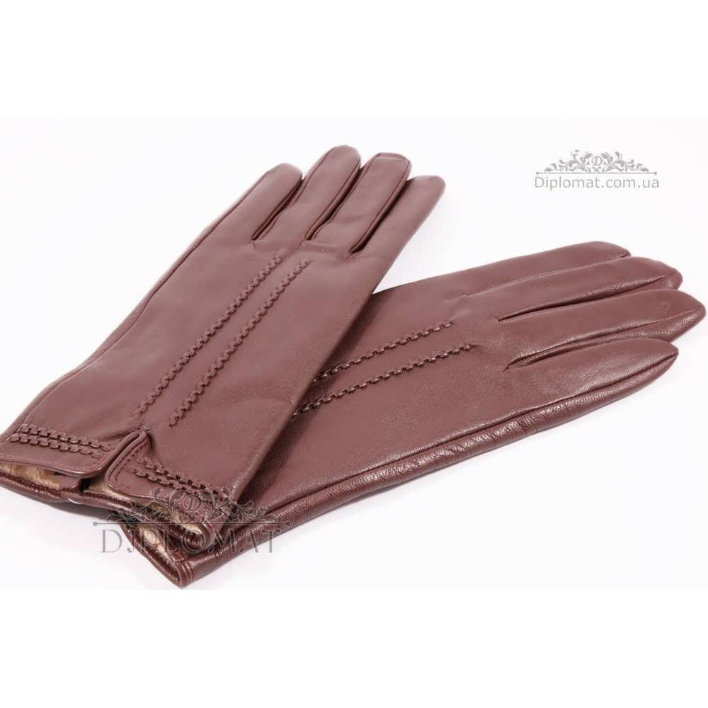 Перчатки женские HARMON 2307 ПП КоричневыйSMOOTH SKIN size 8,5