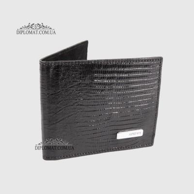Зажим для денег с магнитом KARYA 0903 076 Черный Рептилий