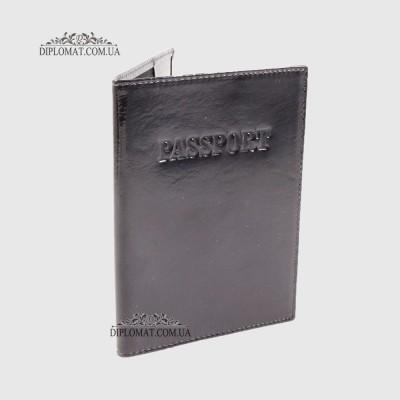 Обложка для паспорта TERGAN 1200 кожанаяSIYAH CRISTAL