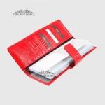 Визитница кожаная для дисконтных карт KARYA 0012  074 Красная