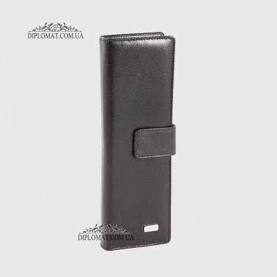 Визитница кожаная для дисконтных карт KARYA 0012 1 Черный Гладкий