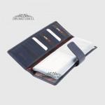 Визитница кожаная для дисконтных карт KARYA 0012  44 Синяя