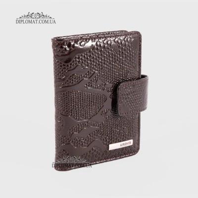 Визитницы кожаные для дисконтных карт KARYA 0014 015 Коричневый Лак