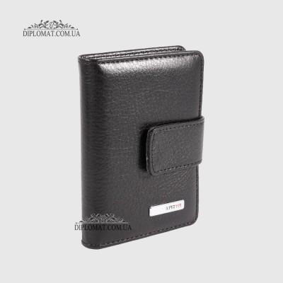 Визитницы кожаные для дисконтных карт KARYA 0014 45 Черный