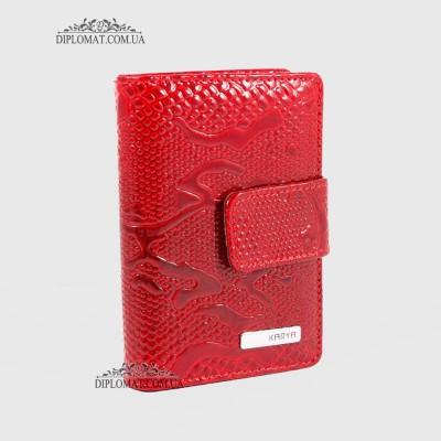Визитницы кожаные для дисконтных карт KARYA 0014 019 Красный Лак