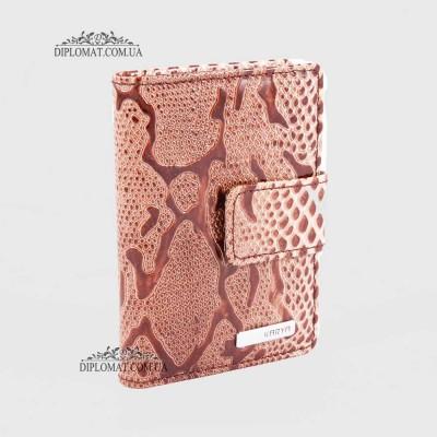 Визитницы кожаные для дисконтных карт KARYA 0014 011 Бежево-Коричневый